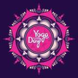 International yoga day poster. Creative illustration of international yoga day poster Stock Photo