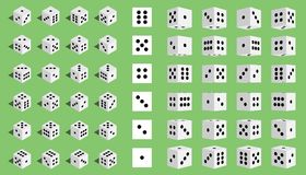 Creative illustration of isometric 3d gambling dice combination isolated on transparent background. Art design game. Abstra. Creative illustration of isometric royalty free illustration