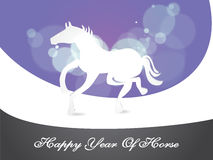 Creative illustration for new year, Year of the ho Royalty Free Stock Images