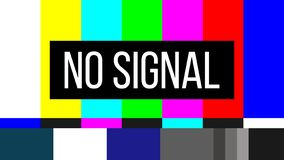 Creative illustration of no signal TV test pattern background. Television screen error. SMPTE color bars technical problems. Art. Design. Abstract concept royalty free illustration