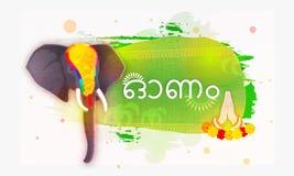 Creative illustration for Onam Festival. Stock Photo