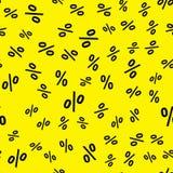 Creative illustration of percent business background. Seamless pattern. Discount deal. Economic finance promotion art design. stock photo