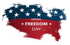 Creative illustration, poster or banner of National Freedom Day! - February 1st. Stock Photo