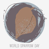 Creative illustration of sparrow Stock Images