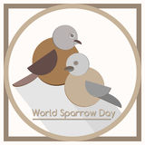Creative illustration of sparrow Stock Photography