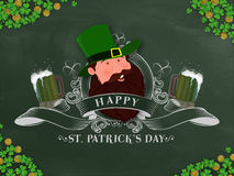 Creative illustration for St. Patrick's Day celebration. Royalty Free Stock Images