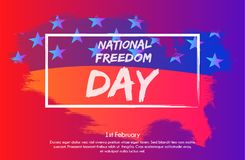 Creative illustration with trendy gradient effect, poster or banner of National Freedom Day! - February 1st. Stock Image