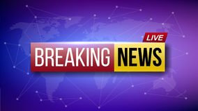 Creative illustration of world live breaking news. TV channel show broadcast art design. Business, technology background. A. Bstract concept graphic element royalty free illustration