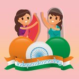 Creative India Independence Day Design Vector Art Logo. Creative India Independence Day Design for various used and purposed just for you the great people Stock Images