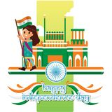 Creative India Independence Day Design Vector Art Logo. Creative India Independence Day Design for various used and purposed just for you the great people Royalty Free Stock Image