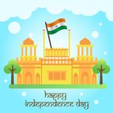 Creative India Independence Day Design Vector Art Logo. Creative India Independence Day Design for various used and purposed just for you the great people Stock Image