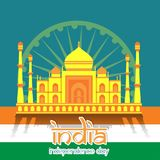 Creative India Independence Day Design Vector Art Logo. Creative India Independence Day Design for various used and purposed just for you the great people Royalty Free Stock Photos