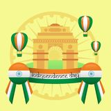 Creative India Independence Day Design Vector Art Logo. Creative India Independence Day Design for various used and purposed just for you the great people stock illustration