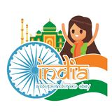 Creative India Independence Day Design Vector Art Logo. Creative India Independence Day Design for various used and purposed just for you the great people Royalty Free Stock Images