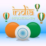 Creative India Independence Day Design Vector Art Logo. Creative India Independence Day Design for various used and purposed just for you the great people Royalty Free Stock Photo