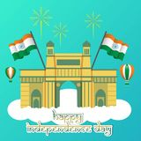 Creative India Independence Day Design Vector Art Logo. Creative India Independence Day Design for various used and purposed just for you the great people Stock Photos