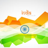 Creative indian flag. Vector creative indian flag design Stock Photo