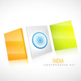 Creative indian flag Stock Photography