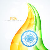 Creative indian flag. Creative wave style indian flag design Royalty Free Stock Image