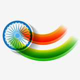 Creative indian flag design Royalty Free Stock Image