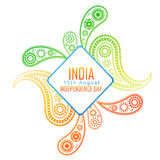 Creative indian flag design Royalty Free Stock Images