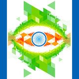 Creative indian flag design Stock Photography