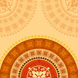 Creative indian ornament background Stock Photo