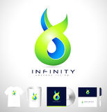 Creative Infinite Abstract Logo Royalty Free Stock Images