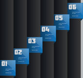 Creative info-graphics template. Blue, dark background Royalty Free Stock Photography