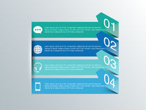 Creative infographic arrows for Business. Creative infographic arrows for your Business reports and presentation Royalty Free Stock Images