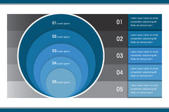 Creative Infographic Circle Chart. This is a modern creative chart for info-graphic design Stock Image