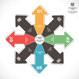 Creative infographic design Stock Photography