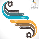 Creative infographic design. Creative retro arrow infographics design stock Stock Photography