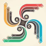 Creative infographic design Royalty Free Stock Photography