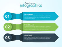 Creative infographic element for Business. Creative infographic arrows on shiny background for Business purpose Stock Images