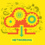 Creative infographic element for Networking concept. Stock Images