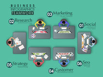 Creative infographic elements for business. Royalty Free Stock Photos