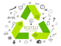 Creative infographic elements for ecology concept. Stock Photo
