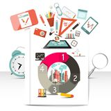 Creative Infographic Items. School and Technology Objects Vector Infographics Elements Vector Illustration