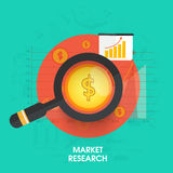 Creative infographic layout for Market Research. Royalty Free Stock Photography