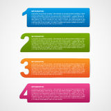 Creative infographic number options template. Royalty Free Stock Images