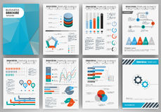 Creative infographic set. Infographic brochure elements for business and finance visualization. Set of infographic templates for flyer, presentation, print Royalty Free Stock Image