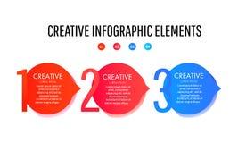 Creative infographic template. Set of minimal liquid gradient splashes vector illustration