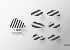 Creative infographics of cloud. Creative infographics element of cloud with text space. Vector template for presentation Royalty Free Stock Images