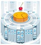 Creative infographics concept, piece of pie idea,vector illustra Stock Photography
