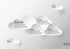 Creative infographics element of cloud with text space. Vector template for presentation Stock Photography