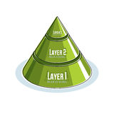 Creative infographics element, 3d layered pyramid idea, vector i. Llustration Stock Images