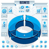 Creative infographics elements concept, 3d three sectors circle Royalty Free Stock Photography