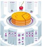 Creative infographics elements, piece of pie idea, vector illust Royalty Free Stock Image