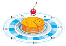 Creative infographics elements, piece of pie idea, vector illust Stock Images